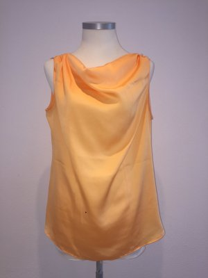 Cowl-Neck Shirt apricot-orange