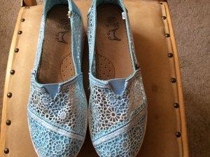 Heel Sneakers neon blue