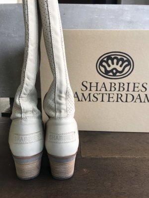 Shabbies amsterdam Stivale militare beige chiaro