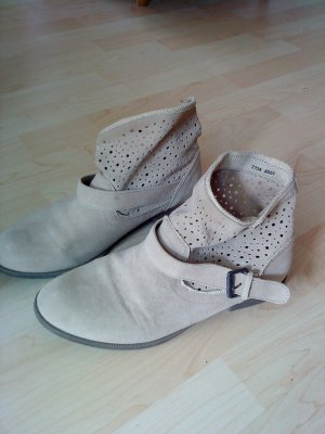 Blue Motion Slip-on Booties oatmeal suede