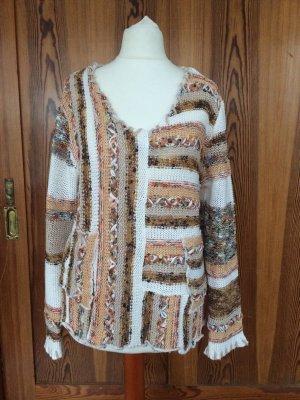 V-Neck Sweater natural white-light brown
