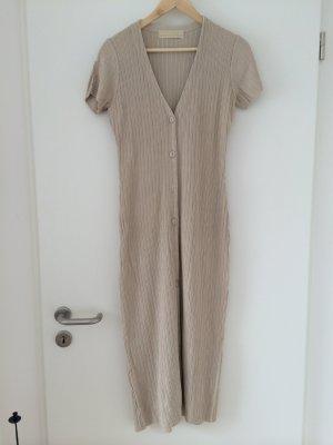 Robe en maille tricotées beige coton
