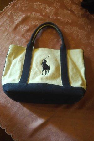 Ralph Lauren Bolso tipo cesta crema-azul oscuro