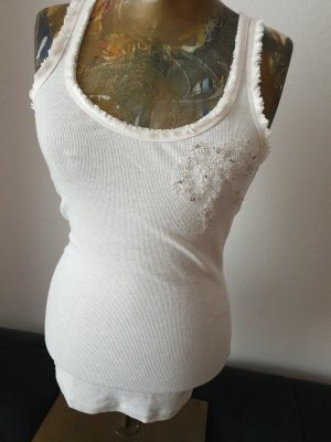 Abercrombie & Fitch Top bianco sporco-crema