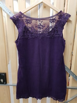 Street One Top di merletto viola scuro