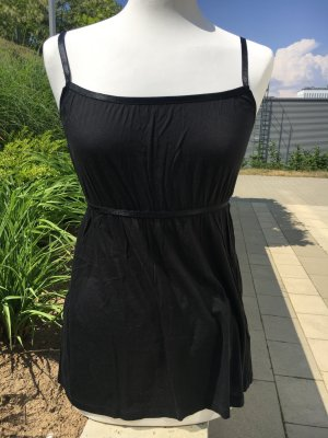 Esprit V-Neck Shirt black cotton