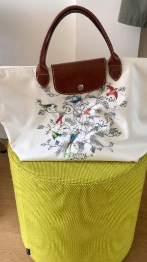 Longchamp Handtas wit Synthetische vezel
