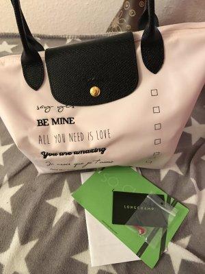 Sonderedition von Longchamp in Rosa mit Herzen Valentinstag Edition
