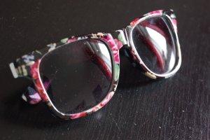 Sonenbrille mit Blumenmuster