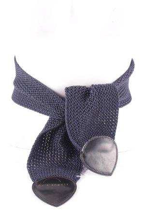 Sônia Bogner Gevlochten riem donkerblauw extravagante stijl