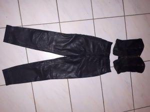 Bogner Pantalón de cuero negro