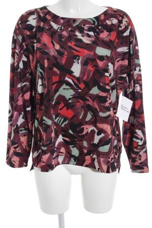 Sônia Bogner Langarm-Bluse abstraktes Muster Elegant