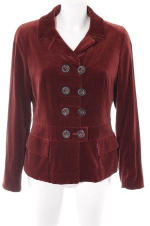 Sônia Bogner Blazer de esmoquin rojo oscuro estilo extravagante