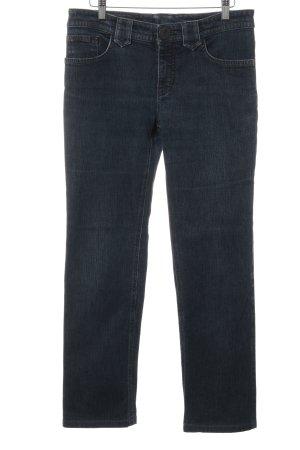 Sônia Bogner Jeans coupe-droite bleu foncé style décontracté