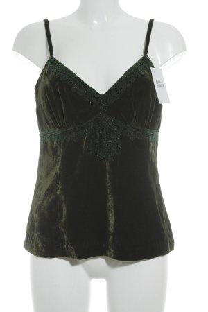 Sônia Bogner Trägertop waldgrün klassischer Stil