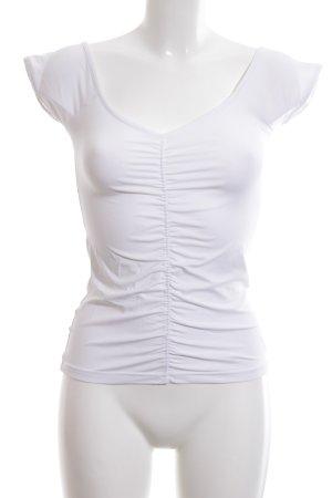 Sônia Bogner Boatneck Shirt white casual look