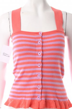 Sonia by Sonia Rykiel Knitted Top salmon-purple striped pattern