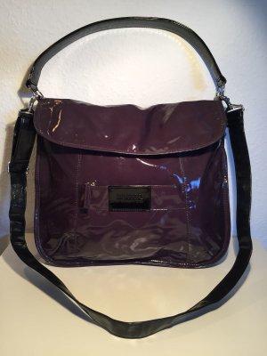 Sonia Rykiel glänzende Lack-Handtasche violett