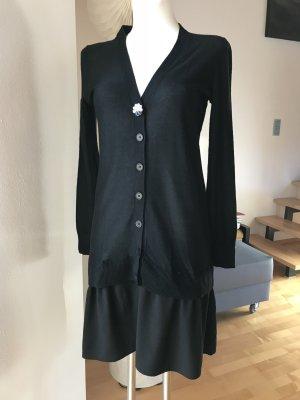 Sonia Rykiel Kleid Strickkleid Cardigan mit Rockteil schwarz