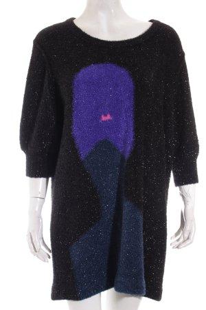 Sonia Rykiel Pulloverkleid abstraktes Muster extravaganter Stil