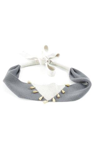 Sonia Rykiel Cinturón pélvico gris oscuro-beige claro bloques de color Borla