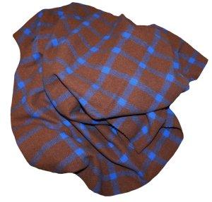 Sonja Bogner XL Schal braun blau