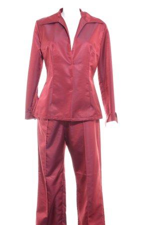 Sonja Kiefer Tailleur-pantalon rouge foncé style extravagant