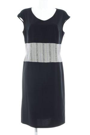 Sonja Kiefer Kurzarmkleid schwarz-grau Elegant