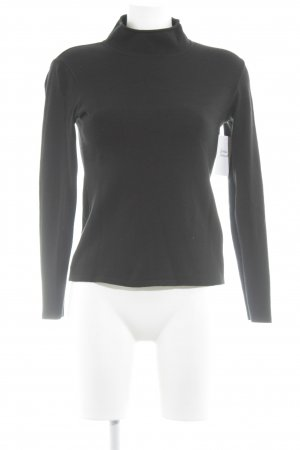 Sonja Marohn Jersey de cuello alto negro estilo minimalista