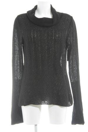Sonja Marohn Wollen trui zwart simpele stijl
