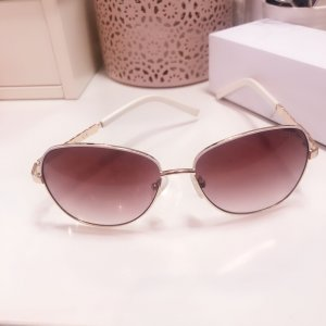 Guess Oval Sunglasses white-gold-colored