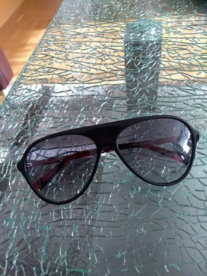 Oval Sunglasses black-red