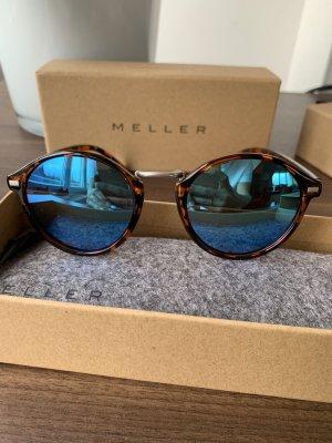 Gafas marrón-negro-azul neón