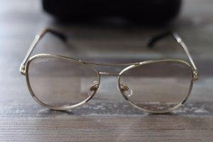 Chanel Gafas de sol ovaladas color bronce