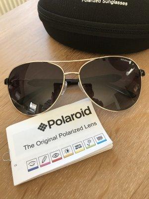 Polaroid Zonnebril zwart-goud