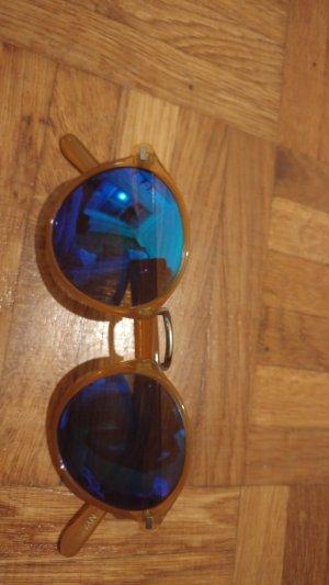 Gafas marrón arena-naranja dorado