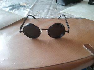 Ronde zonnebril zwart