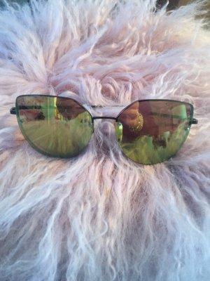 Sunglasses green grey-gold orange