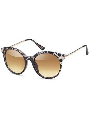 Gafas negro-marrón claro