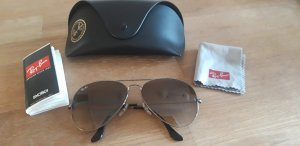 Ray Ban Oval Sunglasses silver-colored-brown