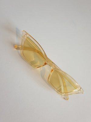 Sonnenbrille/ 90er Jahre Brille/ schmale Sonnenbrille/ gelbe,durchsichtige Sonnenbrille