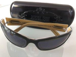 Anna Sui Gafas de sol ovaladas negro-color oro