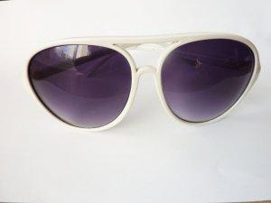Sonnenbrille Aviator weiss NEU