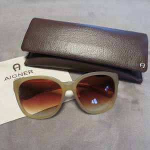 Aigner Sunglasses gold-colored-camel synthetic material