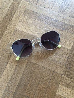 Sonnenbrille, Blogger, Silber, schwarz