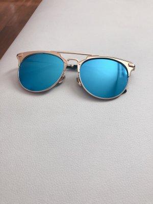 Sunglasses neon blue-gold-colored