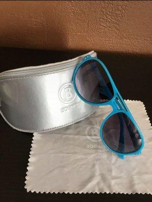 Bogner Oval Sunglasses black-neon blue
