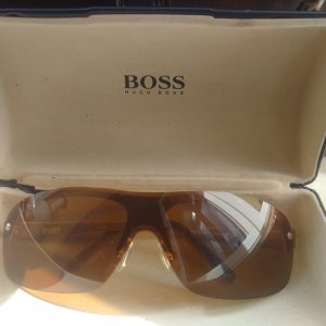 Hugo Boss Retro Glasses light brown-sand brown synthetic material