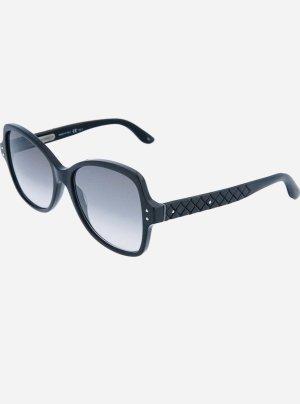 Bottega Veneta Hoekige zonnebril donkergrijs-donkerblauw