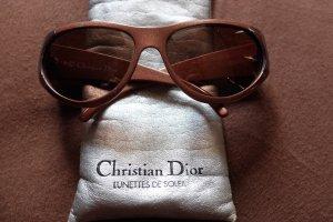 Sonnenbrille braun mit Etui von Christian Dior